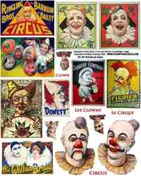 Portrait de Clown Collage Sheet
