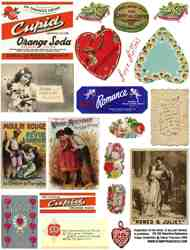Valentine Ephemera 2 Collage Sheet