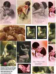 Passionate Kisses Collage Sheet