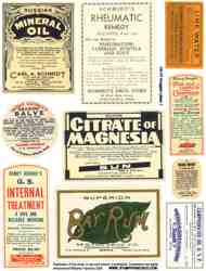 Druggist Labels 1 Collage Sheet