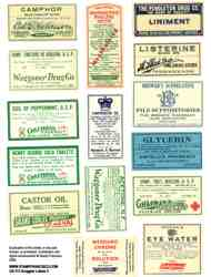 Druggist Labels 3 Collage Sheet
