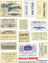 Druggist Labels 4 Collage Sheet