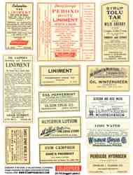Druggist Labels 6 Collage Sheet