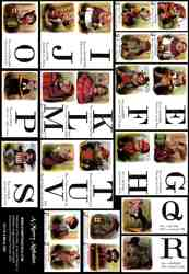 A Merry Alphabet Collage Sheet