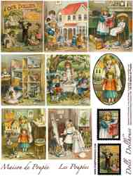 Maison de Poupee Collage Sheet