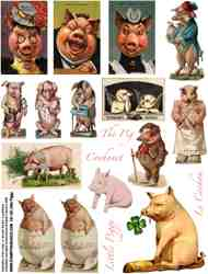Little Piggy Collage Sheet