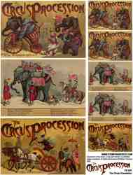 Circus Procession Collage Sheet