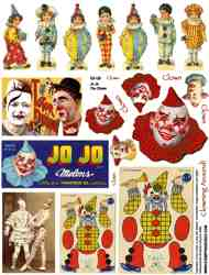 Jo Jo The Clown Collage Sheet
