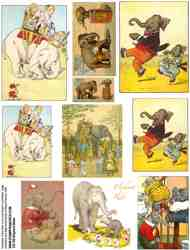 Elephant Rides Collage Sheet