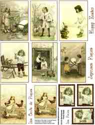 Old-Fashioned French Easter Collage Sheet