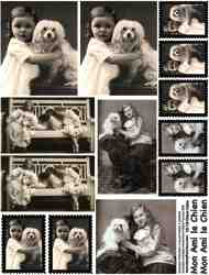 Chiens Calins Collage Sheet