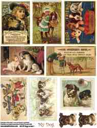 Dogs in Ads 1 Collage Sheet
