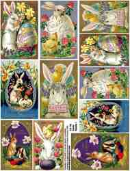 Easter Rabbits 1 Collage Sheet