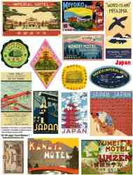 Japan Travel Stickers 1 Collage Sheet