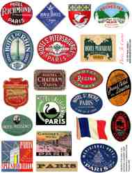 Paris Labels 1 Collage Sheet