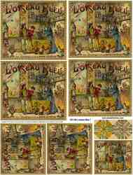 L'oiseau Bleu 1 Collage Sheet