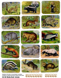 Mostly Small Animals Collage Sheet
