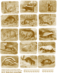 Mostly Small Animals Sepia Collage Sheet