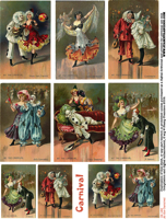 At the Carnival Collage Sheet
